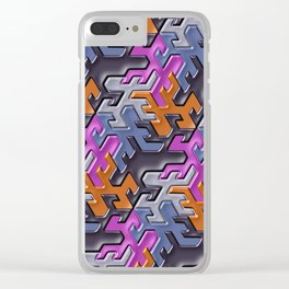 Geometrix 112 Clear iPhone Case