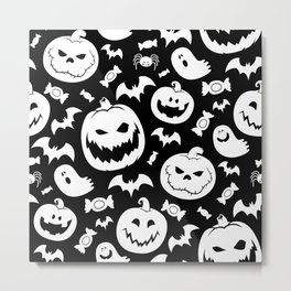 Halloween Pattern Metal Print