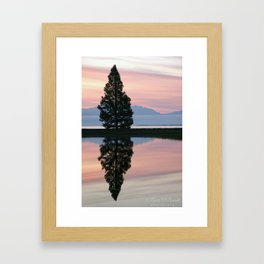 Yellowstone Lake Reflection Framed Art Print