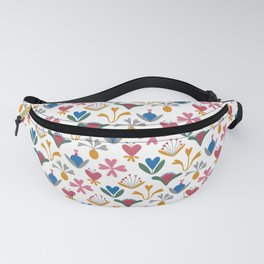 Fantasy Flowers – Blue Bell – Scandinavian Folk Art Fanny Pack