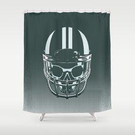 Final Touchdown - FADED CERULEAN Shower Curtain