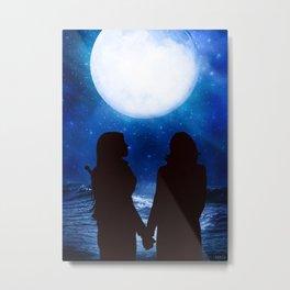 Swan Queen - Under a full moon Metal Print
