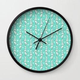 Oatmeal Poodle Print Wall Clock