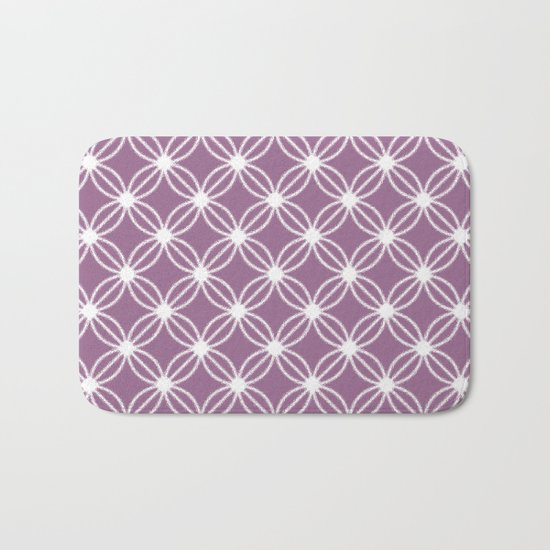 Abstract Circle Dots Purple Bath Mat