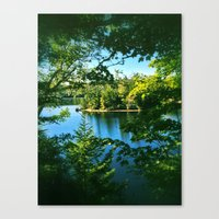 not all who wander Canvas Prints featuring All Who Wander by Ronna Hitichcock