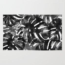 Tropical Monstera Leaf Print Rug