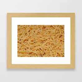 Noodles Up Close And Personal Framed Art Print