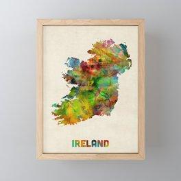 Ireland Eire Watercolor Map Framed Mini Art Print