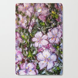 LET LIFE BE BEAUTIFUL LIKE SPRING AZALEA - abstract floral painting by HSIN LIN / HSIN LIN ART Cutting Board