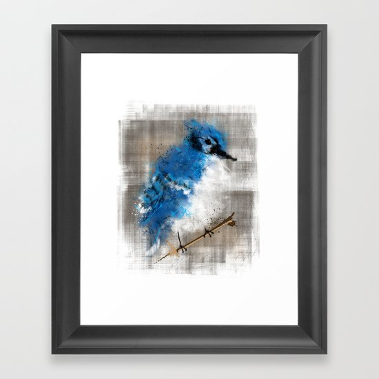 A Blue Jay Today Framed Art Print