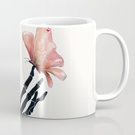 Butterfly on Skeleton Hand Coffee Mug