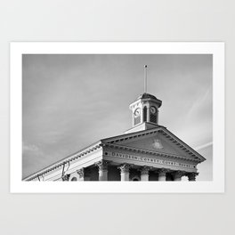 Courthouse Clock Art Print