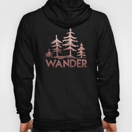 WANDER Adventure Forest Rose Gold Pink Hoody