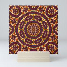 Geometric tapestry Mini Art Print