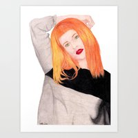 hayley williams Art Prints featuring Hayley Williams by Natalie Huber