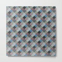 Fleur de Lys Stone Tiles Metal Print