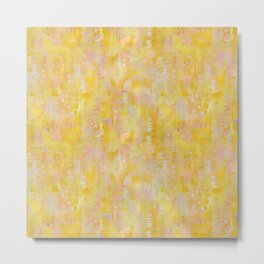 Yellow and Pink Abstract1 Metal Print