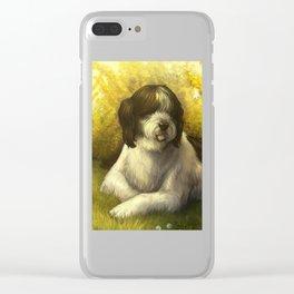 Jake: Sheepdog Portrait Clear iPhone Case