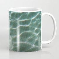 pool Mugs featuring Pool by Marta Bocos