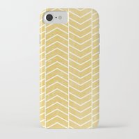 chevron iPhone & iPod Cases featuring Yellow Chevron by Zeke Tucker