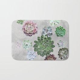 Simple succulents Bath Mat