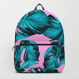 Monstera Leaves Summer Vibes Pattern #1 #tropical #decor #art #society6 Backpack