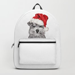 Christmas Schnauzer Backpack