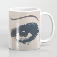 hedwig Mugs featuring Hedwig 2 Eyes by byebyesally