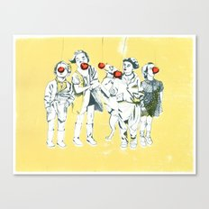 Apple eaters Canvas Print