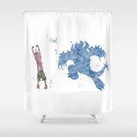 big hero 6 Shower Curtains featuring Fred Big Hero 6 Disneys by Carma Zoe
