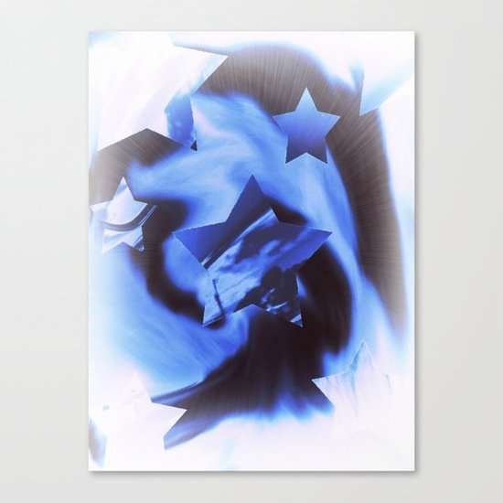 Starburts II cold blue Canvas Print