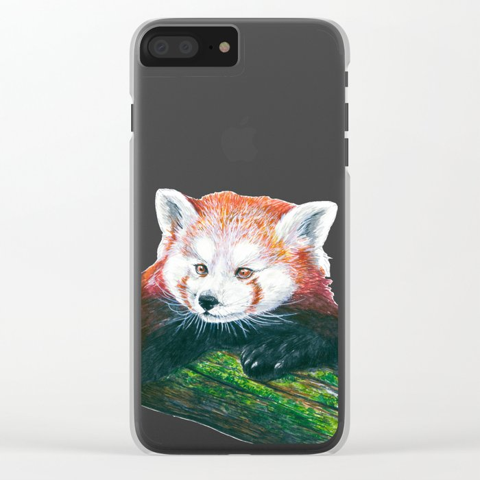 Red panda bear Clear iPhone Case