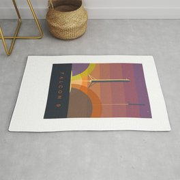 Falcon 9 Launch minimalist  Rug
