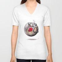globe V-neck T-shirts featuring globe by Paradox
