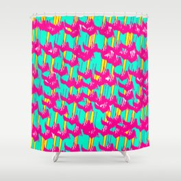 Pink March Shower Curtain