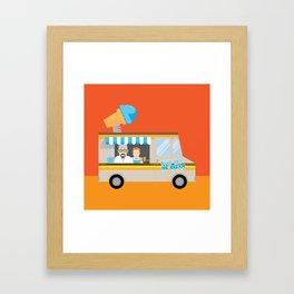 Breaking tradition - Walt and Jesse make ice cream Framed Art Print