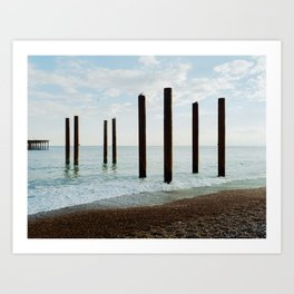Brighton Pier Remnants 3 Art Print