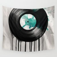 vinyl Wall Tapestries featuring infinity vinyl by Vin Zzep