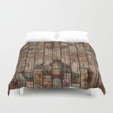 Encrypted Map Duvet Cover
