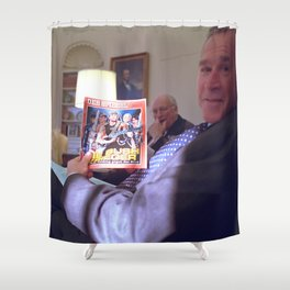 Bush the Warrior Shower Curtain