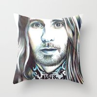 jared leto Throw Pillows featuring Jared Leto by ShayMacMorran