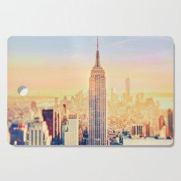 New York City Sunset Glow Cutting Board