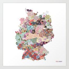 Germany map Art Print