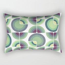 Green Fields Pattern Rectangular Pillow