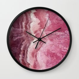 Rosey Rose Quartz Crystal Wall Clock