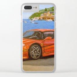 Sport car Clear iPhone Case