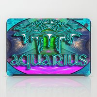 zodiac iPad Cases featuring Aquarius Zodiac by CAP Artwork & Design