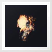 Fire & Smoke Art Print