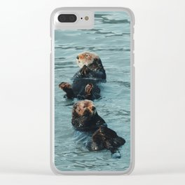 Coastal sea otters Clear iPhone Case