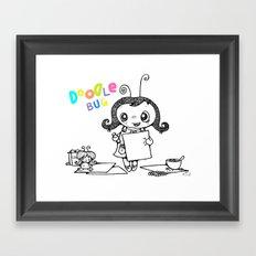 Doodle Bug Framed Art Print